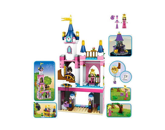 Конструктор JVToy, Принцессы, Замок для Спящей Красавицы, 385 деталей (15006), фото 2