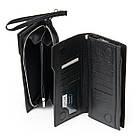 Большой мужской кожаный кошелек DR. BOND черного цвета, фото 3