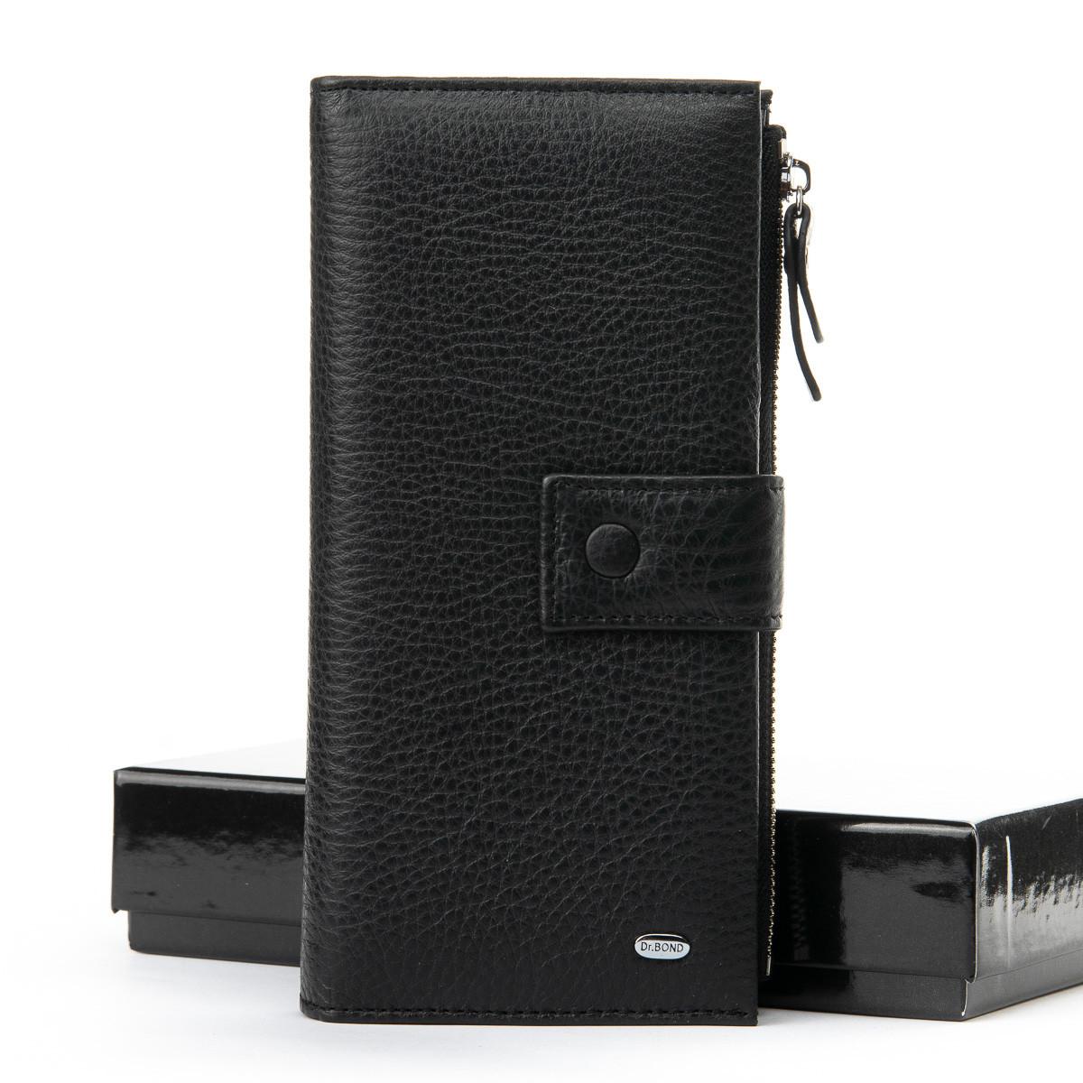 Кожаное портмоне DR. BOND черного цвета