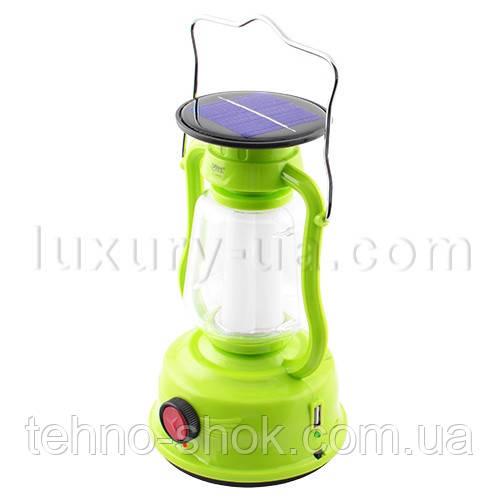 Фонарь лампа Yajia 5850 T, 24SMD, солн. батарея