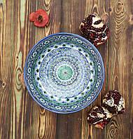 Ваза на ножке (фруктовница) авторской работы. Риштан, Узбекистан