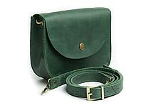 Жіноча міні сумка на плече Goose™ G0022 зелена, натуральна шкіра, фото 3