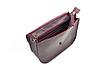 Міні-сумка жіноча з натуральної шкіри Goose™ G0024 марсала (ручна робота), фото 3