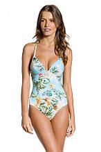 Модный слитный купальник с тропическим принтом  LARISSA MINATTO