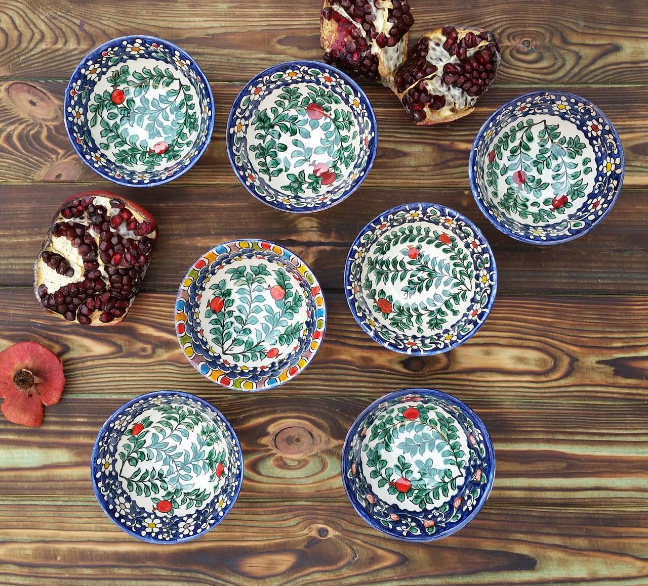 """Узбекская пиала """"АНОР""""  ручной работы ~200 мл, d 11 см. Керамика"""
