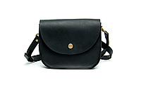 Женская мини сумка из кожи Goose™ G0023 черная (ручная работа), фото 1