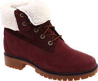 a8179c1d8 Женские ботинки Timberland Jayne Teddy Fleece Fold Down Waterproof Boot  Burgundy Nubuck
