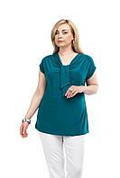 Женская блуза большого размера 1507004.6 морская волна