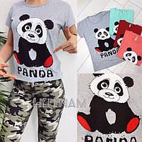 Женская летняя футболка №088 (р.42-46) в расцветках, фото 1