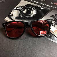 Модные мужские Солнцезащитные очки в стиле Ray-Ban красные линзы