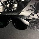 Чоловічі сонцезахисні окуляри в стилі Ray-Ban чорні, фото 2