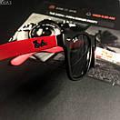 Модные солнцезащитные мужские очки в стиле Ray-Ban черные с красным, фото 2