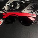 Модные солнцезащитные мужские очки в стиле Ray-Ban черные с красным, фото 3