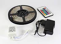 Светодиодная лента 3528LED RGB 5метров в комплекте с RGB контроллер+блок питания+пульт, фото 1