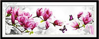 """Вышитая картина в наборе """"Ветка розовой Магнолии"""" 3Д, фото 1"""