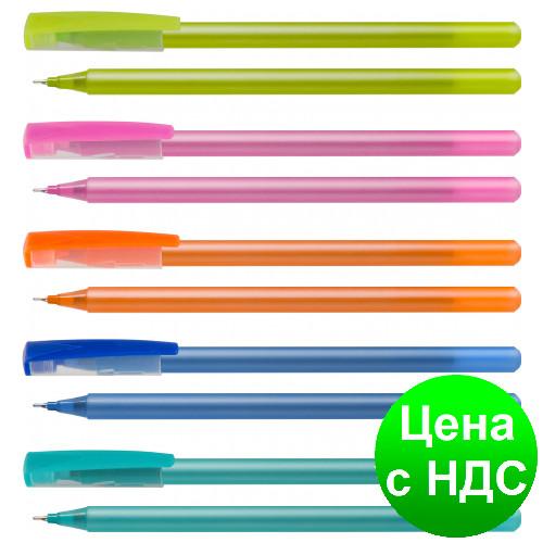 Ручка масляная OPTIMA FLAME, 0,7 мм. Корпус ассорти, пишет синим O15643-02