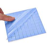 Термопрокладка СР 2,0мм 10х10 мм высечка 10шт синяя высечка термоинтерфейс для ноутбука, фото 6