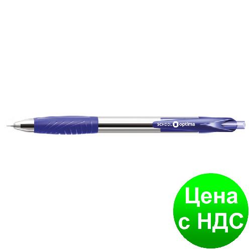 Ручка масляная OPTIMA SCHOOL 0,7 мм, пишет синим O15658-02