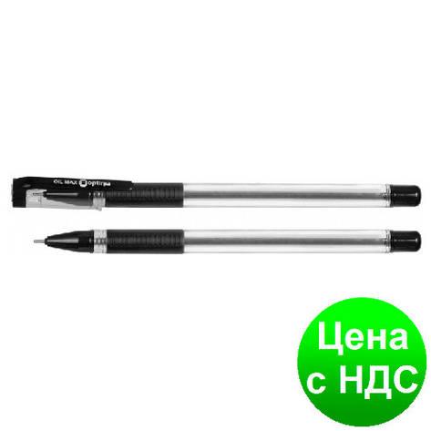 Ручка масляная OPTIMA OIL MAX 0,7 мм, пишет черным O15644-01, фото 2