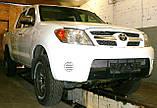 Декоративно-захисна сітка радіатора Toyota Hilux 2006 - фальшрадіаторная решітка, бампер, фото 4