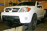 Декоративно-захисна сітка радіатора Toyota Hilux 2006 - фальшрадіаторная решітка, бампер, фото 5