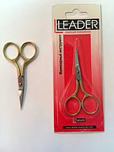 Ножницы для ногтей Лидер загнутые,золотые