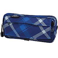 11281706 Пенал Herlitz Pockets Check Blue синий