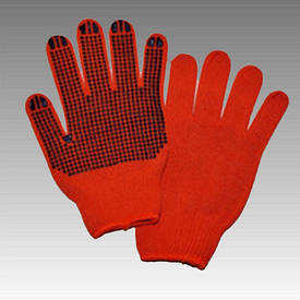 Рукавички робочі х/б помаранчева з пвх покриттям (Україна)