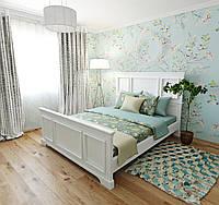 Двуспальная кровать Картель из сосны, в белом цвете