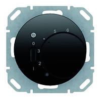 Регулятор температуры помещения 10А/250В Berker R.1/R.3 Чёрный (20302045)