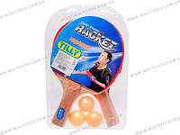 Теннис настольный, 2 ракетки 3 мяча пластиковые