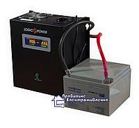 Комплект резервного живлення (на 1,5-3 год автономної роботи котла) ДБЖ PSW-500 + АКБ LP-26MGL, фото 1