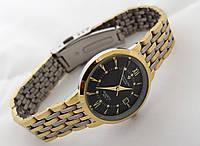 Часы женские Philippe - стальной браслет, цвет циферблата черный, фото 1