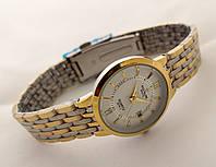 Часы женские Patek Philippe - стальной браслет, цвет циферблата белый