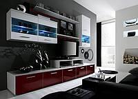Гостиная Logo II Cama белый/бордовый глянец