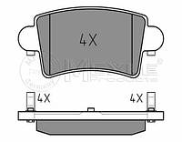 Meyle 025 236 6916 Колодки тормозные задние Renault Master, Opel Movano