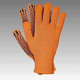 Рукавички робочі х/б помаранчева з пвх покриттям (Польща)