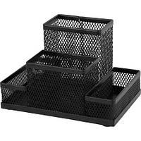 Подставка для офисных принадлежностей металлическая Axent, черная (2117-01-A)