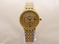 Женские часы Patek Philippe - стальной браслет, цвет циферблата золотистый