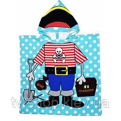 Полотенце-пончо с капюшоном Пират
