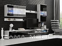 Гостиная Logo III Cama белый/черный глянец