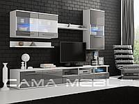Гостиная Logo III Cama белый/серый глянец