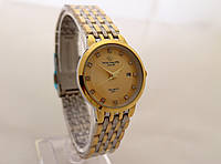 Часы женские Patek Philippe - стальной браслет, цвет циферблата золотистый, фото 1