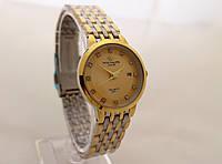 Часы женские Patek Philippe - стальной браслет, цвет циферблата золотистый