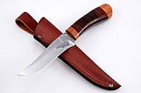 Нож охотничий Скиф-3, рукоять наборная кожа, с  эксклюзивными фотографиями, фото 1