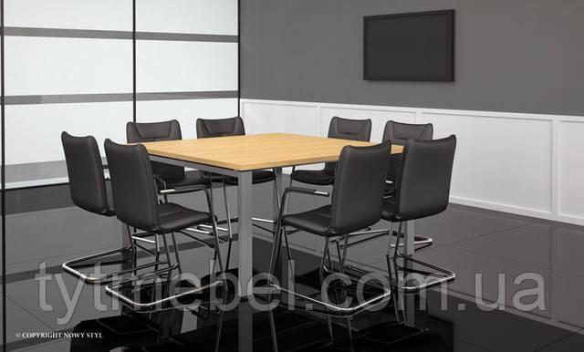 стул для посетителей DESILVA ARM chrome ECO