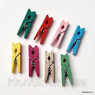 Прищепки декоративные, 3 см, Цвет: Микс (10 шт.)