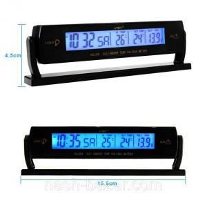 Авточасы VST 7013V + термометр + вольтметр, фото 2