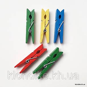 Прищепки декоративные, 4.5 см, Цвет: Микс (10 шт.)