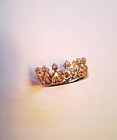 """Золотое кольцо """"Сердце Королевы """" 585 пробы женское"""